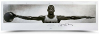 "Michael Jordan Signed LE Chicago Bulls ""Wings"" 23x72 Poster Inscribed ""2009 HOF"" (UDA COA) at PristineAuction.com"