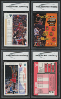 Lot of (4) BCCG Graded Michael Jordan Basketball Cards with 1992-93 Upper Deck #23, 1989-90 Fleer #21, 1992-93 Stadium Club #1 & 1991-92 Upper Deck #44 at PristineAuction.com