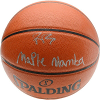 "RJ Barrett Signed Spalding Basketball Inscribed ""Maple Mamba"" (Fanatics Hologram) at PristineAuction.com"