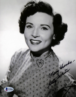 """Betty White Signed 8x10 Photo Inscribed """"Many Thanks"""" (Beckett COA) at PristineAuction.com"""