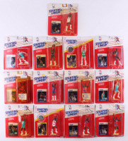 Lot of (13) Starting Lineup Basketball Figurines with Michael Jordan, Larry Bird, Dominique Wilkins, Hakeem Olajuwon at PristineAuction.com