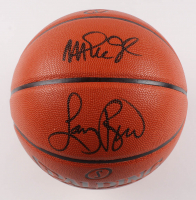 Larry Bird & Magic Johnson Signed NBA Game Ball Series Basketball (PSA Hologram) at PristineAuction.com