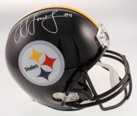 JuJu Smith-Schuster Signed Pittsburgh Steelers Full-Size Helmet (TSE Hologram) at PristineAuction.com