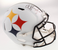 JuJu Smith-Schuster Signed Pittsburgh Steelers AMP Alternate Full-Size Speed Helmet (TSE COA) at PristineAuction.com