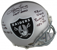 Howie Long Signed Oakland Raiders Full-Size Authentic On-Field Helmet with Multiple Career Stat Inscriptions (Beckett COA) at PristineAuction.com