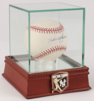 Hank Bauer Signed Spinneybeck Leather OAL Baseball with High Quality Display Case (PSA COA) at PristineAuction.com
