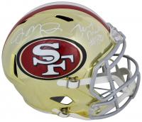 Joe Montana & Jerry Rice Signed San Francisco 49ers Chrome Speed Full-Size Helmet (Beckett COA) at PristineAuction.com