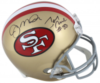 Joe Montana & Jerry Rice Signed San Francisco 49ers Full-Size Helmet (Beckett COA) at PristineAuction.com