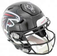 "Tony Gonzalez Signed Falcons Full-Size Authentic On-Field SpeedFlex Helmet Inscribed ""HOF 19"" (Beckett COA) at PristineAuction.com"