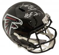 "Deion Sanders Signed Falcons Full-Size Speed Helmet Inscribed ""HOF 2011"" (Beckett COA) at PristineAuction.com"