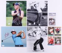 Lot of (9) Signed Golf Items with Lee Trevino Signed 8x10 Photo, Lee Trevino Signed 1990 Pro Set #82, Tom Watson Signed 1991 Pro Set #41, Hale Irvin Signed 1990 Pro Set #1 (SOP COA, JSA COA, JSA SOA, & PSA Encapsulated) at PristineAuction.com