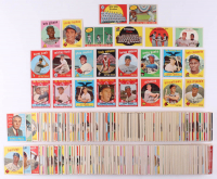 Lot of (572) 1959 Topps Baseball Cards with #514 Bob Gibson RC, #10 Mickey Mantle, #478 Roberto Clemente, #163 Sandy Koufax, #563 Willie Mays at PristineAuction.com