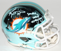"""Ricky Williams Signed Miami Dolphins Chrome Speed Mini Helmet Inscribed """"Smoke Weed Everyday!"""" (PSA Hologram) at PristineAuction.com"""