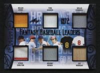 2019 ITG Used Sports Fantasy Baseball Leaders Memorabilia Navy Blue #FBL08 Nolan Ryan / Steve Carlton / Tom Seaver / Johnny Bench / Willie Stargell / Joe Morgan at PristineAuction.com