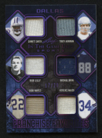 2019 ITG Used Sports Franchise Favorites Memorabilia Purple Spectrum #FRF15 Emmitt Smith / Troy Aikman / Bob Lilly / Michael Irvin / Bob Hayes / Herschel Walker at PristineAuction.com