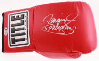 """Manny Pacquiao Signed Title Boxing Glove Inscribed """"Pacman"""" (Beckett COA) at PristineAuction.com"""
