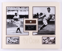 Ty Cobb 16x20 Custom Matted Photo Display with (1) Hand-Written Word From Letter (PSA LOA Copy) at PristineAuction.com
