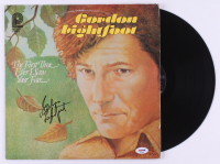 """Gordon Lightfoot Signed """"The First Time Ever I Saw Your Face"""" Vinyl Record Album (PSA COA) at PristineAuction.com"""