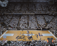 Dexter Strickland, James Michael McAdoo & John Henson Signed North Carolina Tar Heels 8x10 Photo (Legends COA) at PristineAuction.com