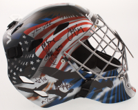 1980 Team USA Full-Size Hockey Goalie Mask Team-Signed by (17) with Jim Craig, Mike Eruzione, Rob McClanahan, Mike Ramsey (Schwartz COA) at PristineAuction.com