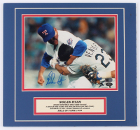 Nolan Ryan Signed Texas Rangers 13x14 Custom Matted Photo Display (AIV COA & Ryan Hologram) at PristineAuction.com