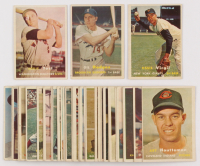 Lot of (42) 1957 Topps Baseball Cards with #365 Ozzie Virgil RC, #80 Gil Hodges, #177 Eddie Yost at PristineAuction.com