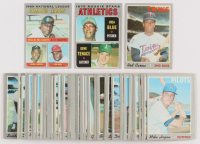 Lot of (70) 1970 Topps Baseball Cards with #290 Rod Carew, #65 NL Home Run Leaders / Willie McCovey / Hank Aaron / Lee May, #21 Rookie Stars / Vida Blue RC / Gene Tenace RC at PristineAuction.com