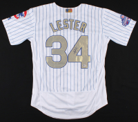 Jon Lester Signed Chicago Cubs 2016 World Series Jersey (Beckett COA) at PristineAuction.com