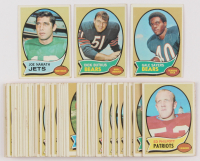 Lot of (62) 1970 Topps Football Cards with #70 Gale Sayers, #190 Dick Butkus, #150 Joe Namath at PristineAuction.com