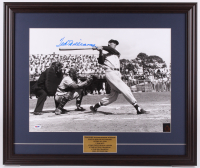 Ted Williams Signed Boston Red Sox 21.5x25.5 Custom Framed Photo Display (PSA LOA & Ted Williams Hologram) at PristineAuction.com