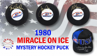 Schwartz Sports 1980 USA Hockey Miracle on Ice Signed Hockey Puck Mystery Box – Series 3 (Limited to 80) - *Herb Brooks Autograph Redemption* at PristineAuction.com