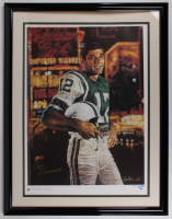 Joe Namath Signed LE New York Jets 36.5x47 Custom Framed Lithograph Display (JSA COA) at PristineAuction.com