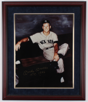 "Mickey Mantle Signed New York Yankees 22.5x26.5 Custom Framed Print Display Inscribed ""T.C. 1956""  (JSA ALOA) at PristineAuction.com"