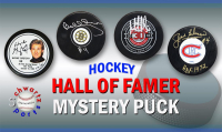 Schwartz Sports Hockey Hall of Famer Signed Logo Hockey Puck Mystery Box - Series 7 (Limited to 100) at PristineAuction.com