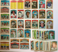 Lot of (112) 1972 Topps Baseball Cards with #1 Pittsburgh Pirates, #226 Roberto Clemente, #446 Tom Seaver, #103 Checklist, #478 Checklist, & #474 Don Baylor RC at PristineAuction.com