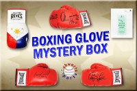 Schwartz Sports Boxing Superstar Signed Mystery Boxing Glove - Series 4 (Limited to 100) **MUHAMMAD ALI Autograph – Grand Prize** at PristineAuction.com