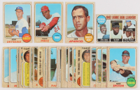 Lot of (40) 1968 Topps Baseball Cards with #130 Tony Perez, #310 Luis Aparicio, #145 Don Drysdale, #5 NL Home Run Leaders / Hank Aaron / Jim Wynn / Ron Santo / Willie McCovey at PristineAuction.com