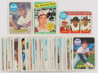 Lot of (65) 1969 Topps Baseball Cards with #510 Rod Carew, #430 Johnny Bench All-Star, #430 Johnny Bench All-Star at PristineAuction.com