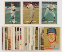 Lot of (43) 1957 Topps Baseball Cards with #120 Bob Lemon, #259 Eddie O'Brien, #150 Bob Friend at PristineAuction.com