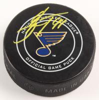 Vladimir Tarasenko Signed St. Louis Blues Logo Hockey Puck (Beckett COA) at PristineAuction.com