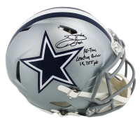 "Emmitt Smith Signed Dallas Cowboys Full-Size Authentic On-Field Speed Helmet Inscribed ""All-Time Leading Rusher 18,355 yds"" (Prova COA) at PristineAuction.com"