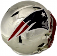 Tom Brady Signed New England Patriots Chrome Full-Size Speed Helmet (TriStar Hologram) at PristineAuction.com