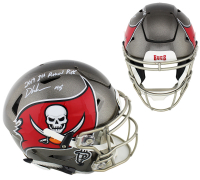 "Devin White Signed Tampa Bay Buccaneers Full-Size Authentic On-Field SpeedFlex Helmet Inscribed ""2019 First Round Pick"" (Radtke COA) at PristineAuction.com"