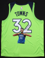 Karl-Anthony Towns Signed Minnesota Timberwolves Jersey with Custom Printed Photo (Towns COA) at PristineAuction.com