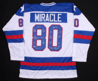 Hockey Jersey Team-Signed by (19) with Jim Craig, Mike Eruzione, Ken Morrow (Beckett Hologram) at PristineAuction.com