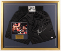 Mike Tyson Signed 27x32 Custom Framed Boxing Trunks Display (PSA Hologram) at PristineAuction.com