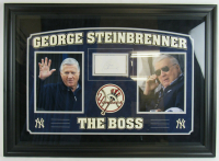 George Steinbrenner Signed New York Yankees 25x34 Custom Framed Cut Display (PSA Encapsulated) at PristineAuction.com