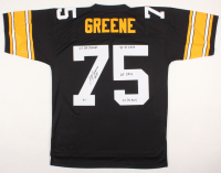 Joe Greene Signed Steelers Throwback Jersey with Multiple Inscriptions (Beckett COA) at PristineAuction.com
