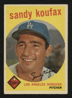 1959 Topps #163 Sandy Koufax at PristineAuction.com