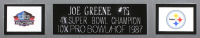 "Joe Greene Signed 35x43 Custom Framed Jersey Inscribed ""HOF 87"" (JSA COA) at PristineAuction.com"